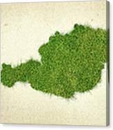 Austria Grass Map Canvas Print