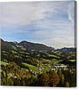Austrian Autumn Scenic Panorama 2 Canvas Print