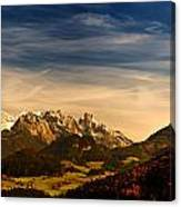 Austrian Autumn Scenic Panorama Canvas Print