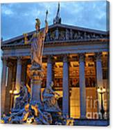 Austrian Parliament Building Canvas Print