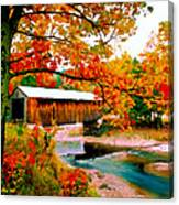 Authentic Covered Bridge Vt Canvas Print