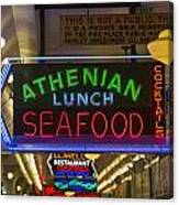 Authentic Lunch Seafood Canvas Print