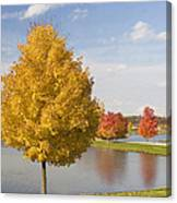 Autumn Day By The Lake Canvas Print