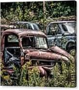 Auto Junk Yard Canvas Print