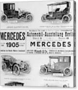Automobile Ad, 1905 Canvas Print