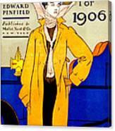 Automobile Calendar Advertisement 1906 Canvas Print