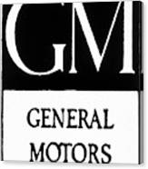 Automobiles Gm Logo Canvas Print