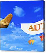 Autumn Advertising Banner Canvas Print