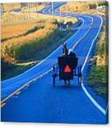 Autumn Amish Buggy Ride Canvas Print