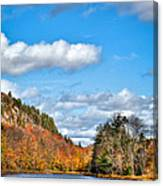 Autumn At Bald Mountain Pond Canvas Print