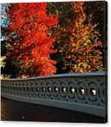 Autumn At Bow Bridge Canvas Print