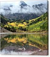 Autumn At Maroon Bells In Colorado Canvas Print
