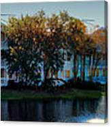 Autumn At Old Key West Resort Panorama Walt Disney World Canvas Print