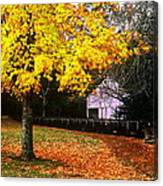Autumn At Old Mill Canvas Print