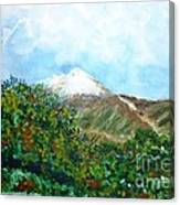 Autumn At The Foot Of Mount Elbrus Canvas Print
