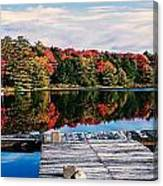 Autumn At The Pond Canvas Print