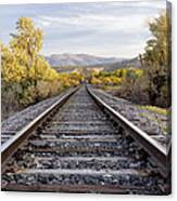 Autumn At The Railroad Canvas Print