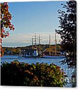 Autumn At The Seaport Canvas Print