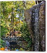 Autumn At The Waterfall Canvas Print