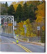 Autumn At Washington's Crossing Bridge Canvas Print