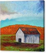 Autumn Barn In Color Canvas Print