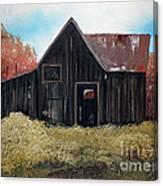 Autumn - Barn -orange Canvas Print