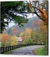 Autumn Beauty around the Bend Canvas Print