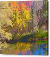 Autumn Beside The Pond Canvas Print