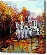 Autumn Carriage Canvas Print
