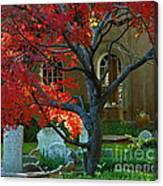 Autumn Charleston Churchyard Canvas Print