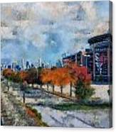 Autumn Chicago White Sox Us Cellular Field Mixed Media 03 Canvas Print