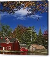 Autumn Church Row Canvas Print