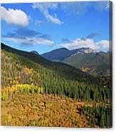 Autumn Color In Colorado Rockies Canvas Print
