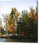 Autumn Color On The Fulton Chain Of Lakes Canvas Print