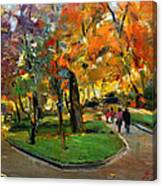 Autumn Colors - Lugano Canvas Print