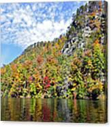Autumn Colors On A Lake Canvas Print