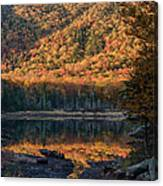 Autumn Colors Reflected In Stream Canvas Print