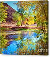 Autumn Colours In Moab Canvas Print