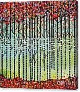 Autumn Confetti Canvas Print