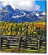 Autumn Corral Canvas Print