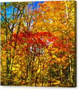 Autumn Cul-de-sac - Paint Canvas Print