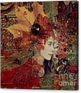 Autumn Dryad Collage Canvas Print