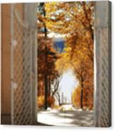 Autumn Entrance Canvas Print