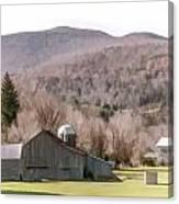 Autumn Farm In Catskills Canvas Print