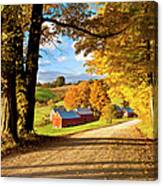 Autumn Farm In Vermont Canvas Print