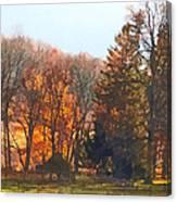 Autumn Farm With Harrow Canvas Print