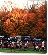 Autumn Football With Dry Brush Effect Canvas Print