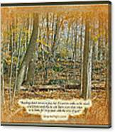 Autumn Forest - George Washington Carver Quote Canvas Print