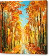 Autumn Forest Impression Canvas Print