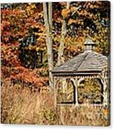 Autumn Gazebo Canvas Print